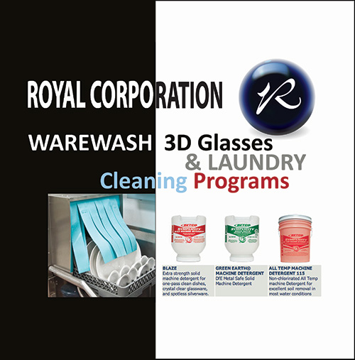 Warewashing, 3D Glasses and Laundry programs
